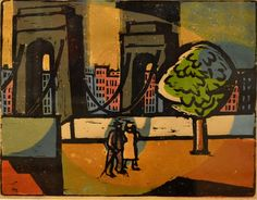 Landscape with Bridge - Vasile Dobrian, 1963