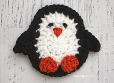 P is for Penguin: Crochet Penguin Applique - Repeat Crafter Me