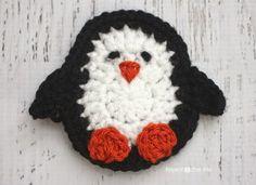 P is for Penguin: Crochet Penguin Applique - Repeat Crafter Me