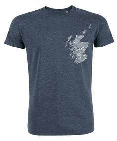 jock-map-t-shirt Our Gillian Kyle Scottish men's t-shirts are printed in Glasgow on organic cotton jersey by expert screen printers.  The ideal Scottish gift for the men in your life, and easy-peasy to send to friends or family abroad.  https://gilliankyle.com/product-category/t-shirts/