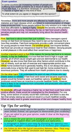 An opinion essay about fast food learnenglish teens british council healthy eating outline an opinion essay about fast f Ielts Writing Task 2, Essay Writing Skills, Essay Writer, English Writing Skills, Persuasive Writing, Academic Writing, Writing Help, Writing Rubrics, Writing Topics