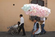 Martin Parr, Antigua, A candy floss seller, 2003