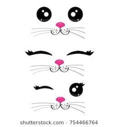 Ideas Funny Cat Birthday Party Ideas - Katzen - Ideas Funny Cat Birthday Party Ideas, PartyIdeas You are in the righ - Funny Cat Faces, Cartoon Faces, Funny Cats, Cartoon Panda, Panda Panda, Kitty Party, Kawaii Drawings, Easy Drawings, Kawaii Faces