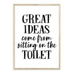 Stort udvalg af plakater til badeværelset - Bentzenberg – HomeDec. Bathroom Prints, Bathroom Art, Bathroom Signs, Toilet Pictures, Bathroom Pictures, Bathroom Quotes, Bathroom Humor, Sign Quotes, Funny Quotes