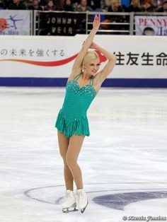 Viktoria HELGESSON -Green Figure Skating / Ice Skating dress inspiration for Sk8 Gr8 Designs.
