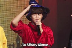 Jimin And The Mickey Mouse Coustume Love Him.