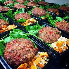 Protein Turkey Patties! With Sweet Potato Rice & Spinach by @MyChefBobby in San Jose, CA. Order on truemeals.com