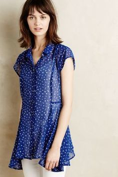 7596b4d988 98 Anthropologie Walking Tour Tunic by Meadow Rue Size XSmall Blue