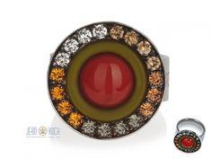 Coeur de Lion - Ring Edelstahl, Zweitonglas aus der neuen Line African Coeur.