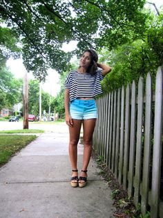 My summer take on the ombre trend: wearing @Hollister Co. shorts, @UO top and @Pour La Victoire wedges Talita Says | Talita Taiti | Midwest Fashion & Lifestyle Blog