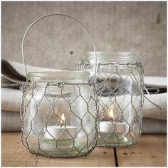 Leuk om zelf te maken: windlicht van gaas en huishoudglas