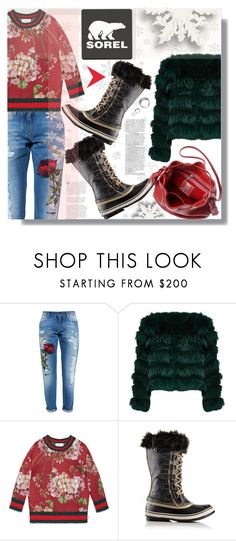 Introducing the 2015 Winter Collection from SOREL: Contest Entry by prigaut on Polyvore featuring Gucci, Alice + Olivia, Dolce&Gabbana and SOREL