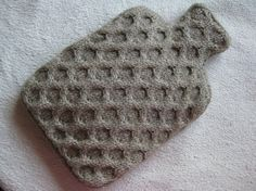 Aran Biscuit Honeycomb Hot Water Bottle Cover, I think I could make this from an old sweater..... What do you think, cindy?