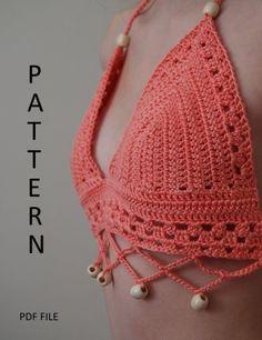PDF Crochet Bikini Top Pattern