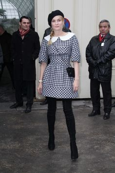 Diane Kruger  at the Chanel Spring/Summer 2013 Haute-Couture show as part of Paris Fashion Week.