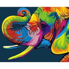 Auspicious colorful elephant canvas Pictures acrylic Paints By Numbers Animals art diy paint by numbers for kids adults Elephant Colour, Colorful Elephant, Colorful Animals, Acrylic Painting Canvas, Diy Painting, Canvas Art, Wall Canvas, Elephant Canvas, Elephant Head