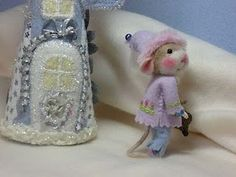 Needle felted mouse, Barby Anderson!