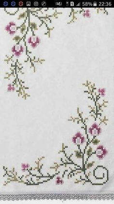 Home Trends 2020 Home Trends, Cross Stitch Flowers, Diy And Crafts, Tapestry, Design, Crossstitch, Cross Stitch Embroidery, Placemat, Cross Stitch Art