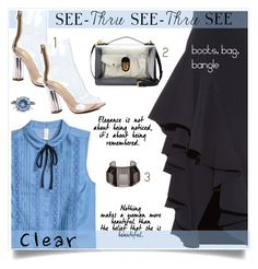 """It's all clear now !!"" by anne-irene ❤ liked on Polyvore featuring A.W.A.K.E., Bottega Veneta, STELLA McCARTNEY, clear and Seethru"