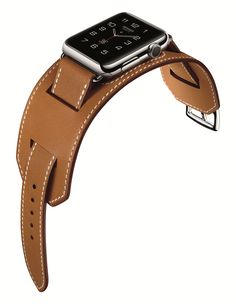 Apple and Hermès Collaborate on the Most Luxurious Smartwatch Yet - Apple Watch with Hermès cuff leather strap