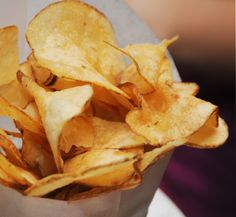Home Made Potato Chips.  From Sarabeth's Park Avenue South, NYC.