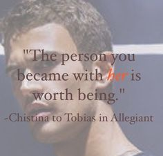 This quote by Christina really made Tobias think. If he really wanted to forget about Tris. Divergent Memes, Divergent Hunger Games, Divergent Fandom, Divergent Trilogy, Divergent Insurgent Allegiant, Insurgent Quotes, Divergent Quotes Love, Divergent Fanfiction, Theo James