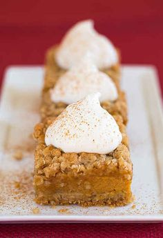 Pumpkin Pie Crumb Bars | 27 Pumpkin Desserts That Are Perfect For Fall