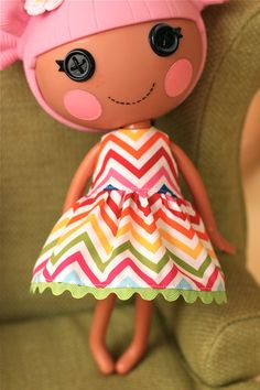 Lalaloopsy Clothes Doll Dress by little noel by LittleNoel on Etsy, $9.99
