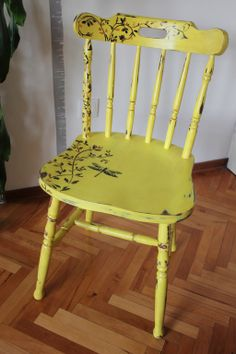 painted yellow chair