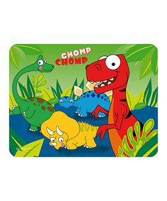 Take a look at this Dinosaurs Lenticular Place Mat by Trudeau on #zulily today! $5 !!