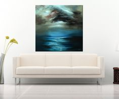 Giclee print on fine art cotton paper / Fine art print / Seascape painting / Sea painting / abstract art / abstract landscape print Landscape Prints, Abstract Landscape, Abstract Art, Seascape Paintings, Fine Art Paper, Giclee Print, Fine Art Prints, Original Paintings, Canvas Art