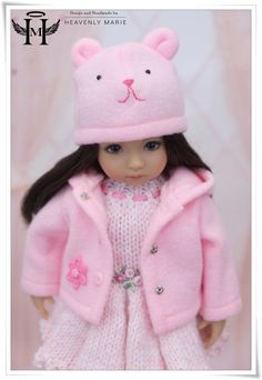 """Pink Dress Coat Ensemble   13"""" Little Darling Effner Clothes by Heavenly Marie   eBay"""