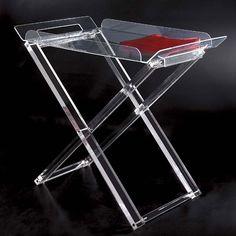 Carrello portavivande pieghevole 69x40.5xh73 cm AURELIO in plexiglas trasparente | Vesta | Stilcasa.Net: Carrelli Portavivande