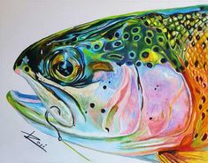 'Rainbow Trout' by Rosi Oldenburg