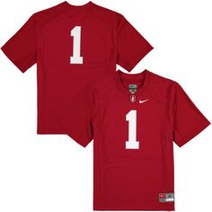 sale retailer 0a8d2 82aba  1 Stanford Cardinal Nike Youth Replica Football Jersey - Cardinal