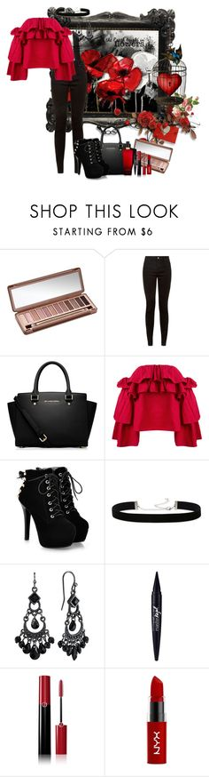 """""""Slaying like a Queen, winning like an Ace"""" by arisa-nightingale ❤ liked on Polyvore featuring Urban Decay, MICHAEL Michael Kors, Erika Cavallini Semi-Couture, 2028, 1928, Maybelline, Giorgio Armani, NYX and Victoria's Secret"""