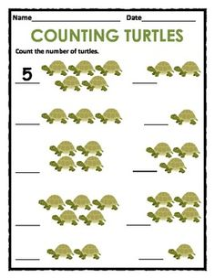32 PAGE PACKET - Counting 1 to 10 Students are asked to count a variety of animals, foods, shapes and objects from 1 to 5 and 1 to 10. They are also instructed to fill in the missing numbers in sequence between 0 and 10. $4 (click to see the reviews!)