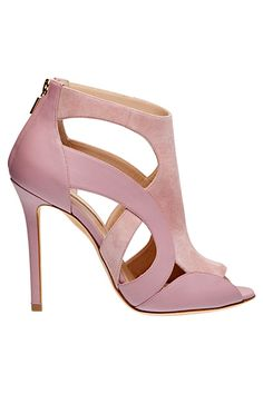 Elie Saab Pink Cut-Out Sandal - Accessories - 2014 Fall-Winter #Shoes #Heels