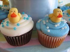 Duck Baby Shower Cupcakes - Close up by Linzi's Cakes, via Flickr