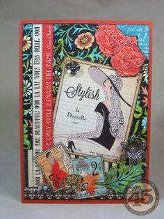 Ooh-la-la! I love Couture! 5 x 7 Card by Annette Green.
