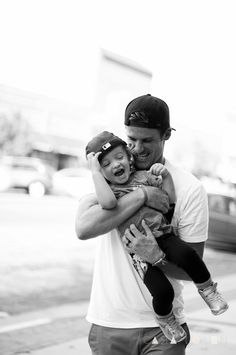 OH MY CUTE... one of the most adorable father son pics... love it. I'll take em both....