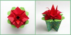 Origami Instructions: An Origami Box Becomes a Festival of Flowers!