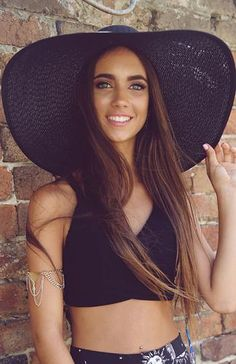 $30 Beach Life Straw Hat - Black | New Arrivals | Peppermayo