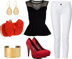 My ideal outfit for going out, created by moniquefrancois on Polyvore