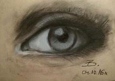 #eye #draw #art #węgiel #oko