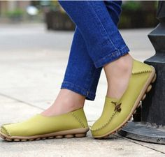 Free shipping Women Genuine Leather Mother Shoes Moccasins Women's Soft Leisure Flats Female Driving Shoes Flat Loafers 4 colors