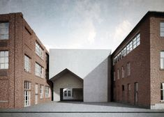 Aires Mateus has won a competition to design a new school of architecture in Tournai, Belgium, with designs for a complex featuring a house-shaped entrance.