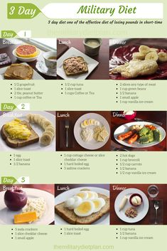 3 day military diet or 3 day dietis one of the effective diet of losing pounds if a short time. You must eat just what is listed. Nothing more, nothing less. This diet tested by many people who lost pounds and get in a quick shape. Personally, I wasn't able to lose 10 pounds (4.5 kg) rapidly. I was desperate to find something that works. Anyway, 3 day military diet is beneficial for the health and it could be repeated after a four-day break. Actually, exercise is required, but I'm sure it…