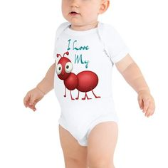 Baby Bodysuit, One Piece, My Love, Cotton, T Shirt, Kids, Clothes, Beautiful, Dresses