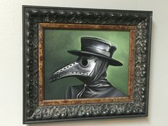 Plague Doctor. Oil on canvas. For sale